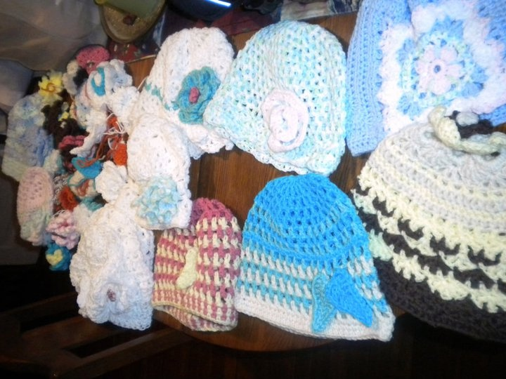 Crocheting Hats For Cancer Patients : Crocheted Hats for cancer patients that have lost their hair from ...