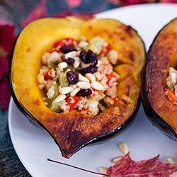baked quinoa stuffed acorn squash | Food | Pinterest