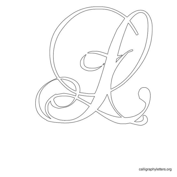 Calligraphy Letter Stencil L Silhouette Inspiration