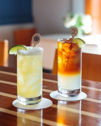 drinks were on offer: a classic margarita and a Dark and Stormy ...