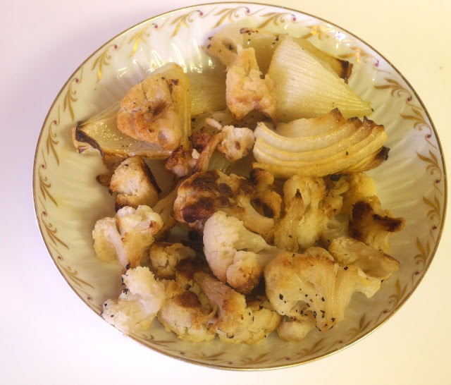 Roasted Cauliflower and Onions | food | Pinterest