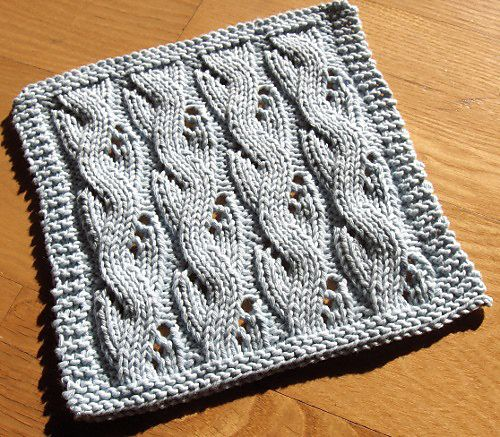 Ravelry: Lacy Mock Cable dishcloth Knitting Is My Bag Pinterest