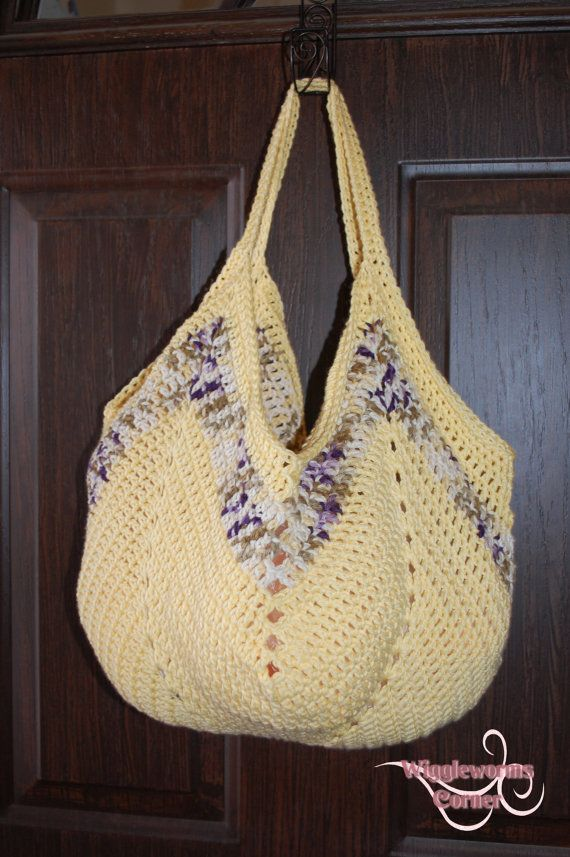 Crocheted Granny Square Bottom Bag Ready to by Wigglewormscorner, $25 ...
