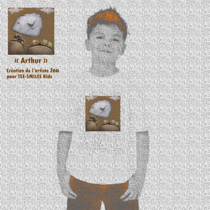 Illustration de l'artiste Joa pour la collection TEE-SMILES Kids