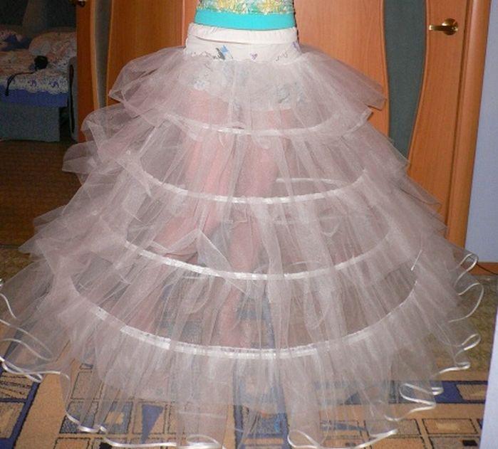 Как сшить детский подъюбник для пышного платья 526