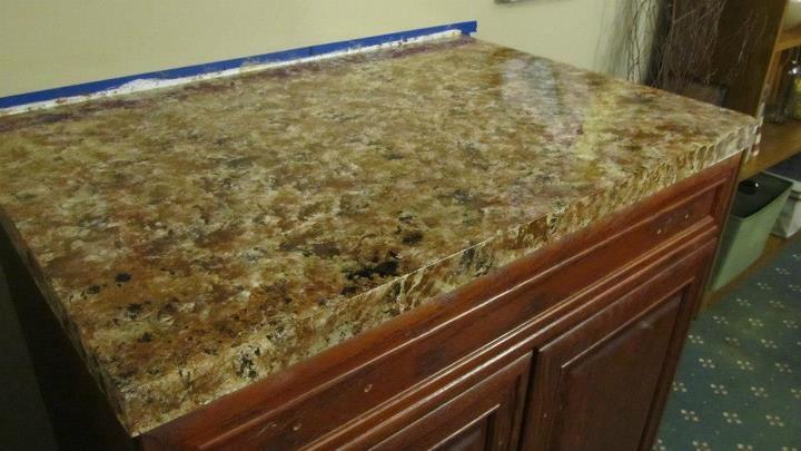 Faux Granite Countertops : diy faux granite countertops For the Home Pinterest