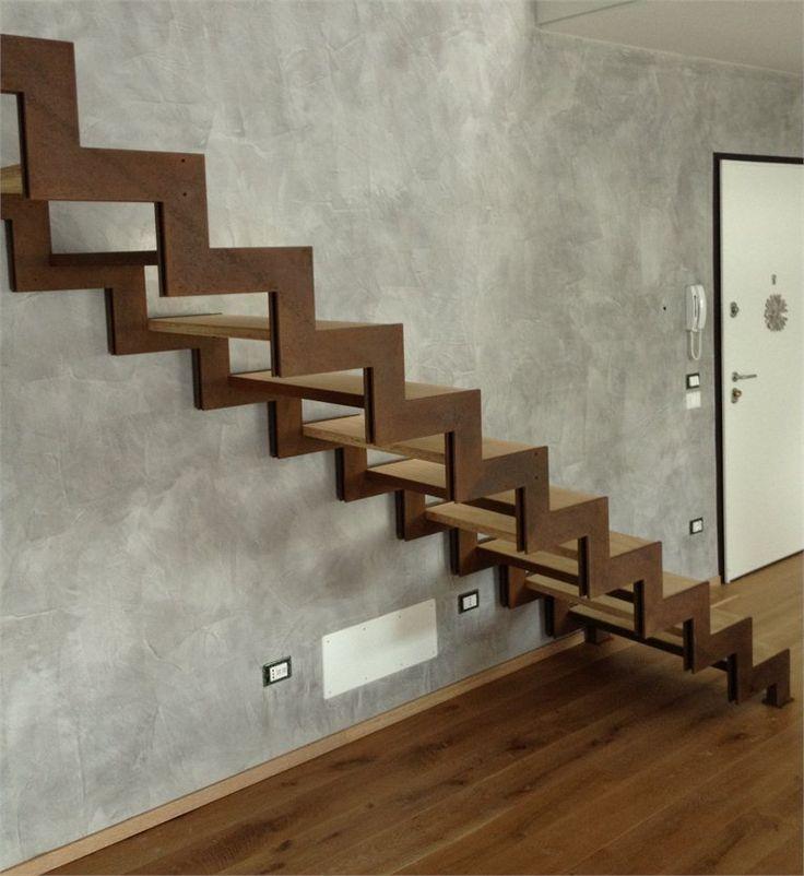 Escalera de acero corten #escalera #stairs #corten ...