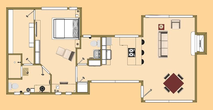 The open 912 sq ft auracee floor plan cozys 700 sq ft for Home design 700 sq ft