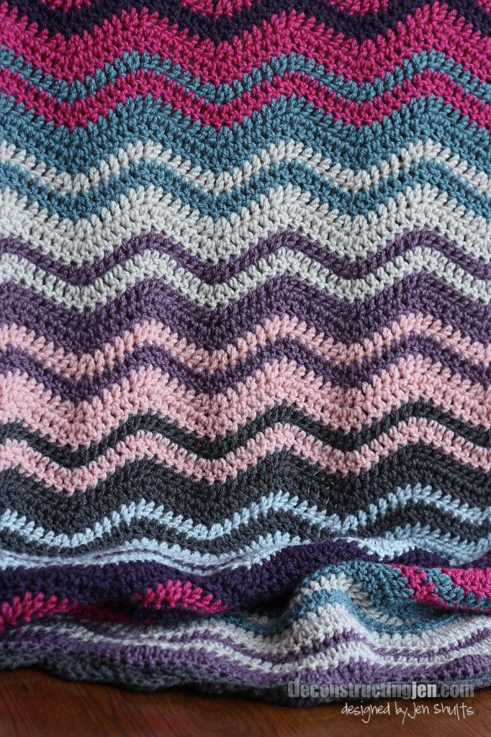ripple crochet blanket - lovely colors Knitting / Crocheting Pint ...