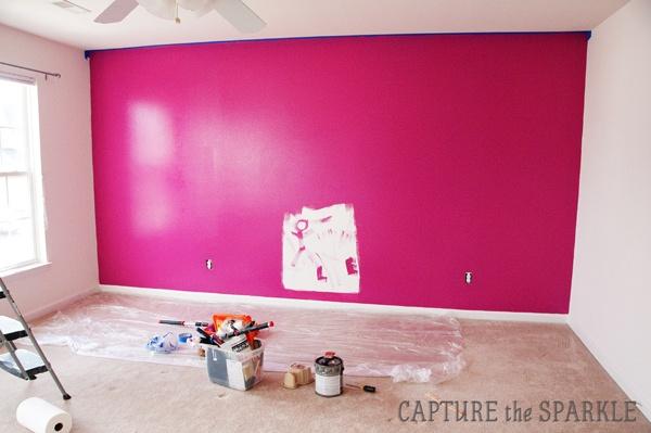 behr hot pink fabric wallpaper paint pinterest