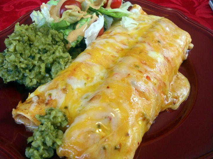 creamy chicken enchiladas | YUMMMMMMM | Pinterest