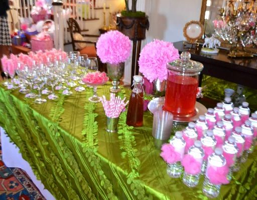 baby girl shower drink table baby shower ideas pinterest