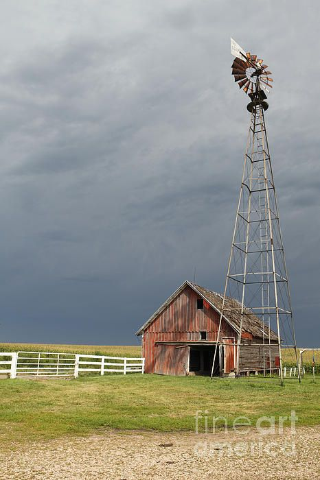 Farms for Sale   Old Farm Building With Windmill Photograph - Old Farm ...