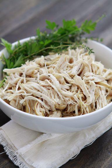 theme is crock-pot/slow-cooker. All-Purpose Shredded Crock-Pot Chicken ...