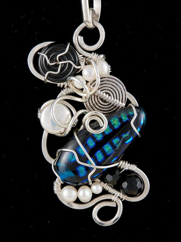 Wirework by Kimberly Berlin - sterling silver coiled, hammered, framed ...