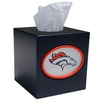 Denver Broncos Tissue Box Cover