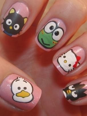 kitty & friends nails