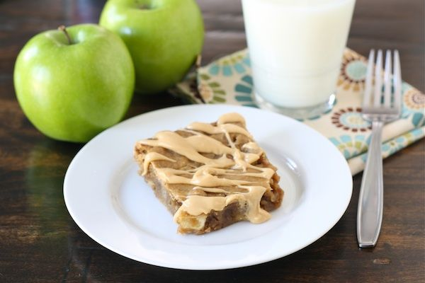 Peanut Butter Apple Bars from @Maria (Two Peas and Their Pod)