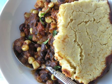 Fiesta Chili with Cornbread Topping