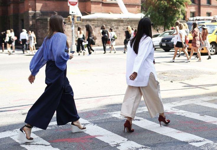 NYFW Street Style // culottes