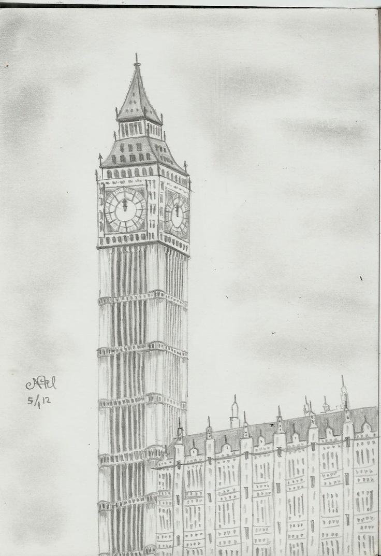 Big Ben #pencil #sketch | My Masterpiece | Pinterest
