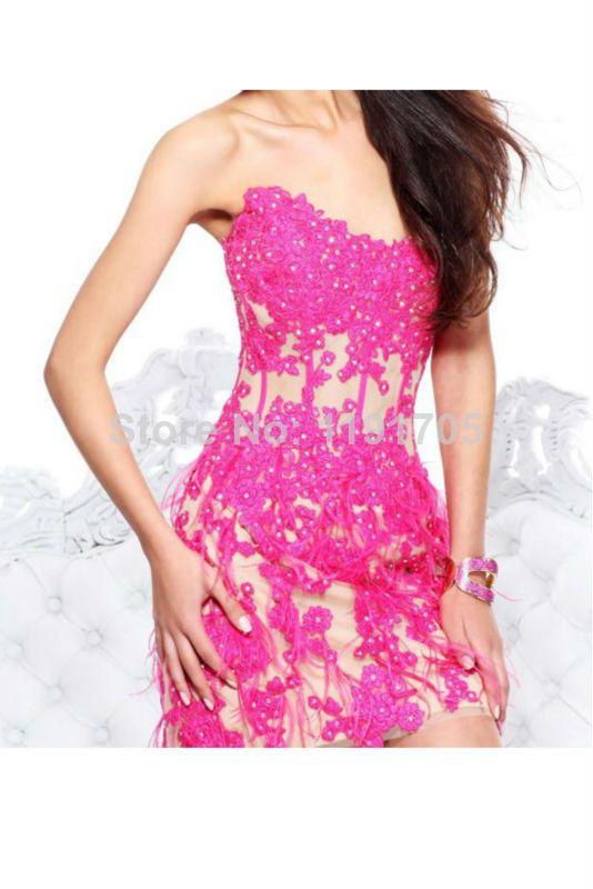 Mini Free Shipping 2014 Pink Lace