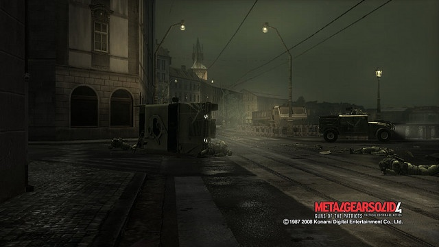 Prague, Charles' Bridge @ Metal Gear Solid 4 Guns of the Patriots (2008) Kojima Productions, Konami. Hideo Kojima