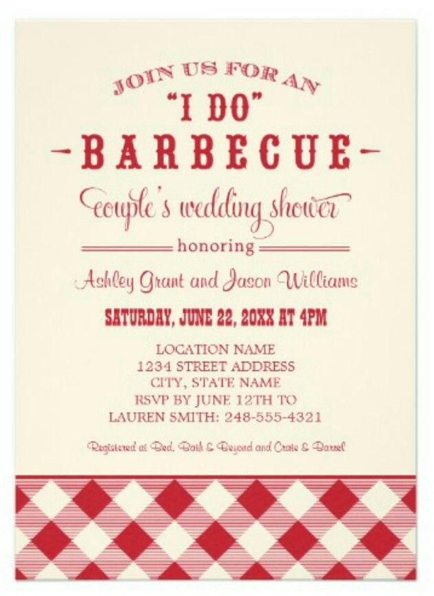 Backyard bbq wedding shower invitations