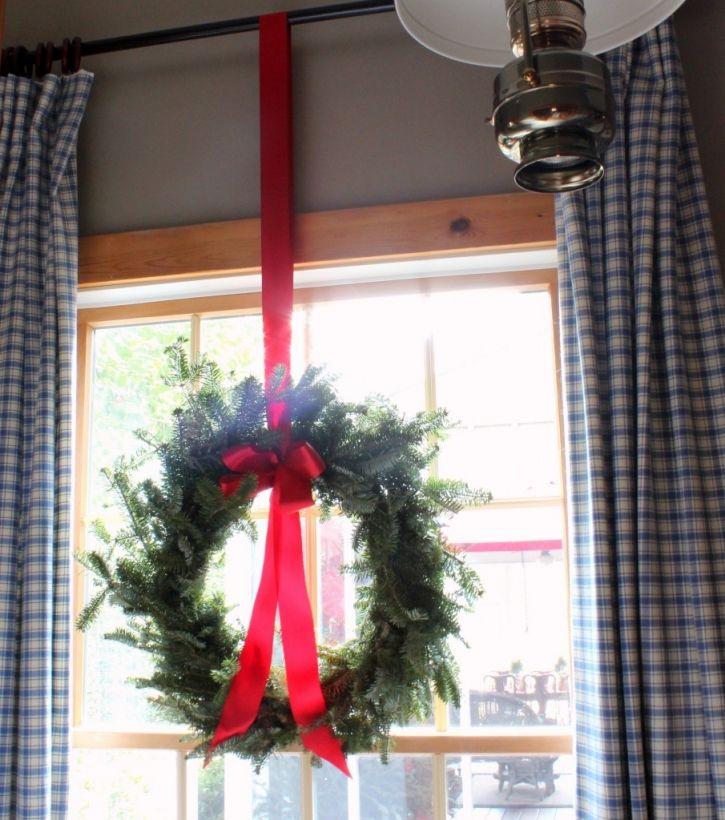 Window Wreath Christmas Pinterest