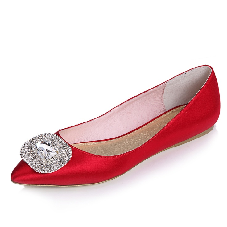 Zapatos de mujer - Womens Shoes - Red Bride Rhinestone Casual Casual