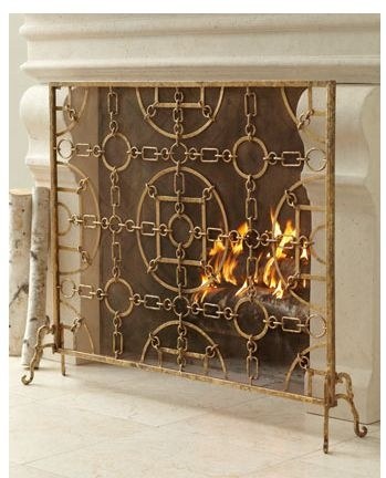 Fireplace Screen STACKED WOOD Pinterest