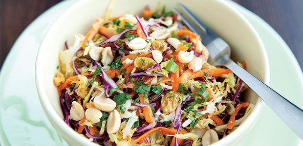 Cabbage Slaw with Miso Dressing, alive #379, May 2014