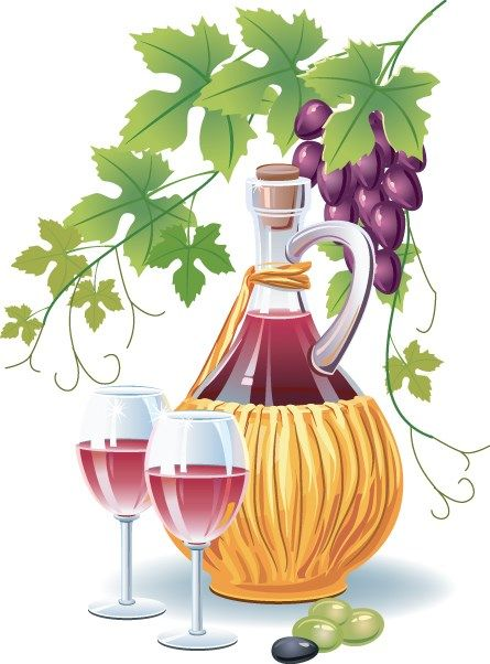 Retro Wine and food design vector 01
