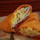 Bacon 'N' Egg Tacos 6 eggs 1/4 cup crumbled cooked bacon 2 tablespoon...