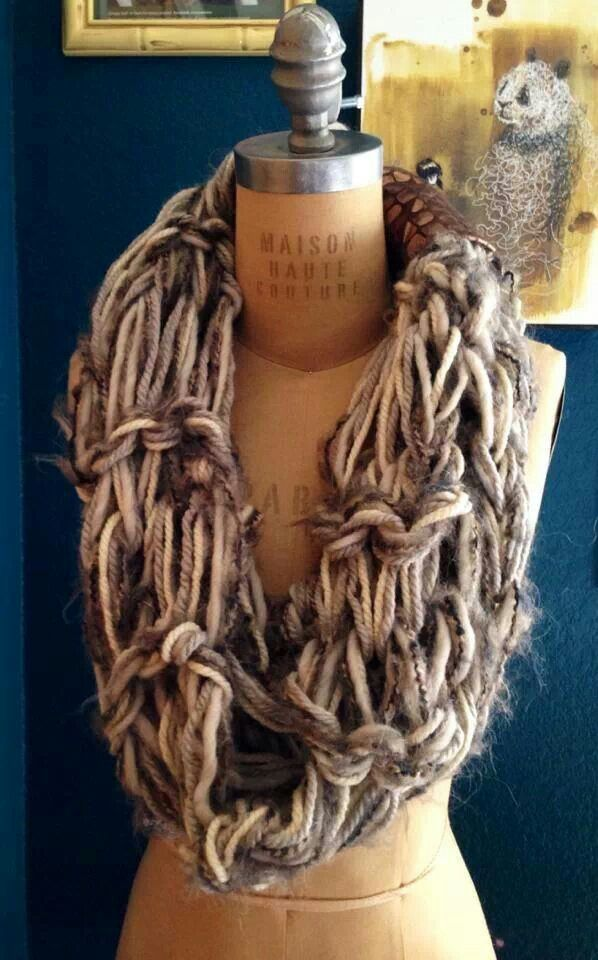 Knitting With Arms Scarf : Arm knit scarf knitting crochet pinterest
