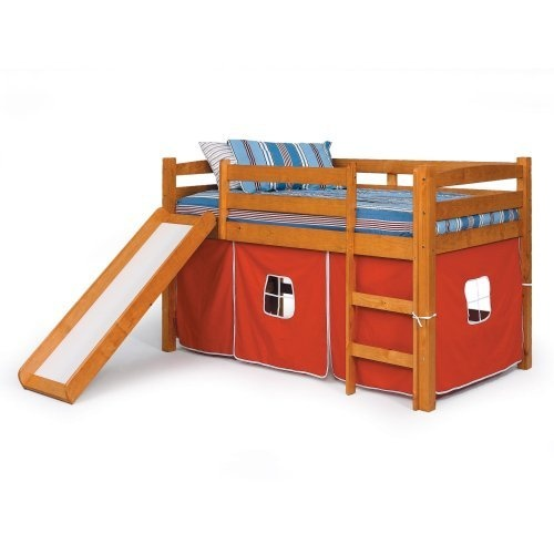 Alexander Tent Twin Loft Bed with Slide -- Hmm... Wonder about the ...