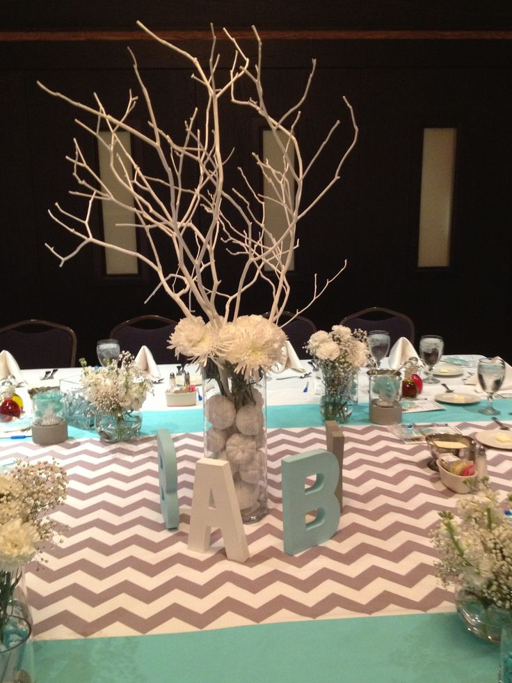 Baby shower centerpiece baby stuff pinterest - Baby shower ideas for a boy centerpieces ...