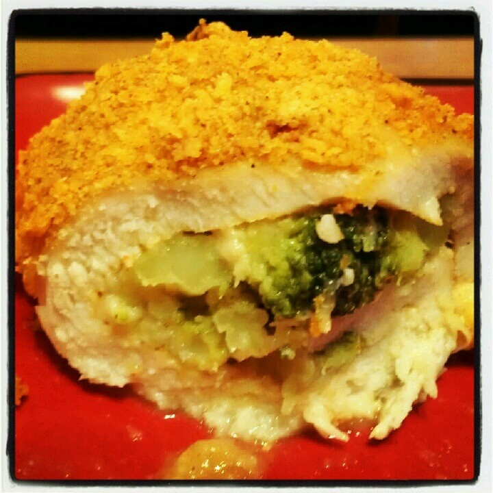 Broccoli and cheese stuffed chicken | New food creations | Pinterest