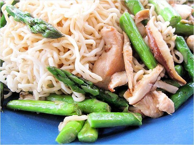 asparagus recipes healthy spring stir fry saute high protein chicken ...