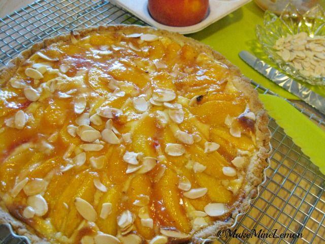 Peaches and Cream Tart | Dessert Me! | Pinterest