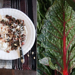 Sauteed Chard with Pine Nuts — Punchfork | Menu planning | Pinterest