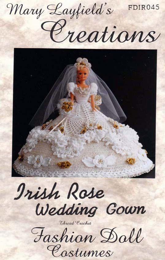 barbie+crochet+ball+gown+patterns+free | Crochet Barbie Doll Wedding ...
