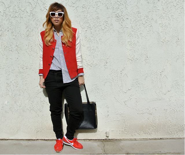 Tricky trend: Get in touch with your sporty side with Varsity style