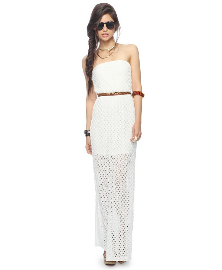 Crochet Maxi Dress : Strapless Crochet Maxi Dress FOREVER21 - 2000043309 http://www ...