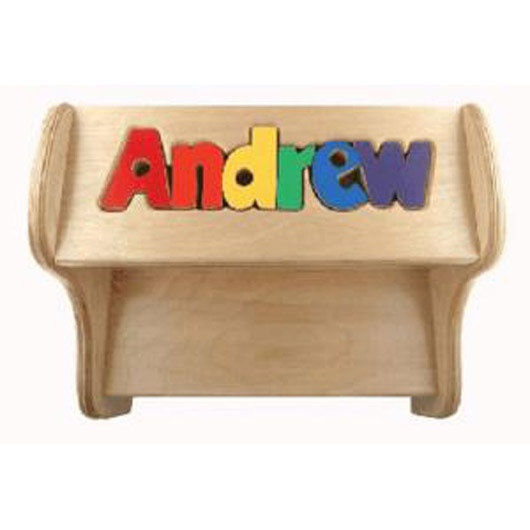 Quot Step Lively Quot Personalized Wooden Puzzle Name Step Stool