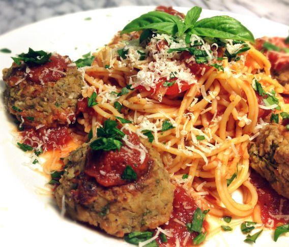 Vegetarian Cannellini & Garbanzo Bean Faux Meatballs and Gluten Free ...