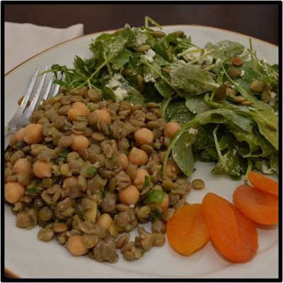 ... Lentil-Chickpea Salad and Arugula Salad with Goat Cheese & Pepitas | A