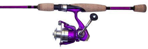 Fishing rod pflueger purple gunpowder strings for Purple fishing reel