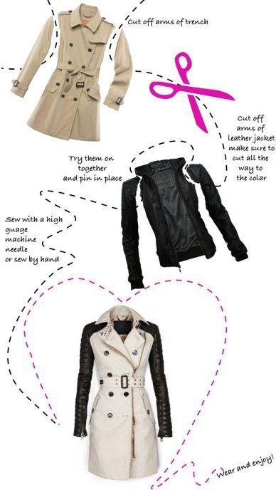 Как из старого пальто сшить пальто для девочки