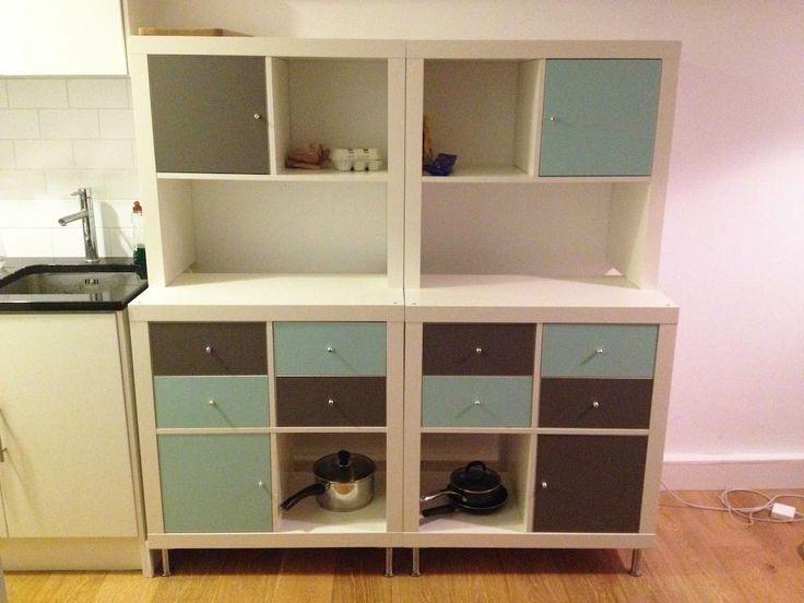 Ikea #Kallax #Extrafach mit #Glastür    Kallax extra #shelf and